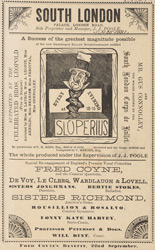 Advert for the South London Palace 926